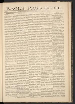 Eagle Pass Guide. (Eagle Pass, Tex.), Vol. 6, No. 50, Ed. 1 Saturday, August 11, 1894