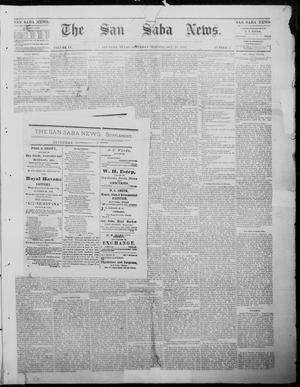 Primary view of object titled 'The San Saba News. (San Saba, Tex.), Vol. 9, No. 7, Ed. 1, Saturday, October 28, 1882'.