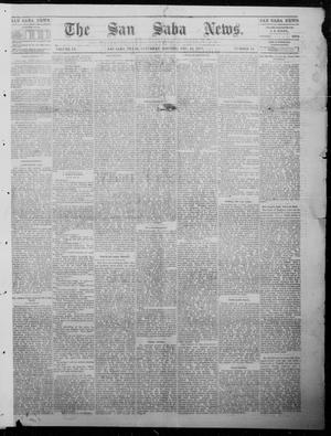 Primary view of object titled 'The San Saba News. (San Saba, Tex.), Vol. 9, No. 14, Ed. 1, Saturday, December 16, 1882'.