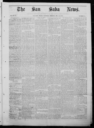 Primary view of object titled 'The San Saba News. (San Saba, Tex.), Vol. 9, No. 15, Ed. 1, Saturday, December 23, 1882'.