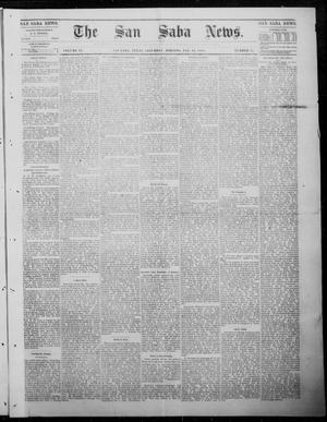 Primary view of object titled 'The San Saba News. (San Saba, Tex.), Vol. 9, No. 17, Ed. 1, Saturday, January 13, 1883'.