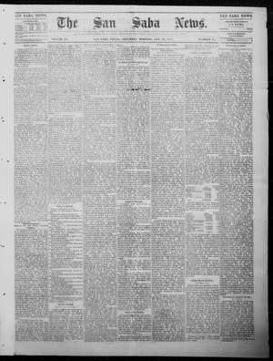 Primary view of object titled 'The San Saba News. (San Saba, Tex.), Vol. 9, No. 18, Ed. 1, Saturday, January 20, 1883'.