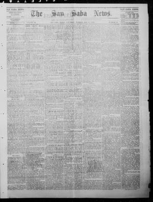 Primary view of object titled 'The San Saba News. (San Saba, Tex.), Vol. 9, No. 19, Ed. 1, Saturday, January 27, 1883'.