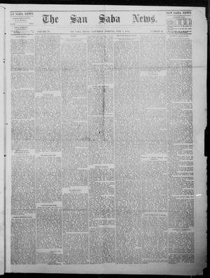 Primary view of object titled 'The San Saba News. (San Saba, Tex.), Vol. 9, No. 20, Ed. 1, Saturday, February 3, 1883'.