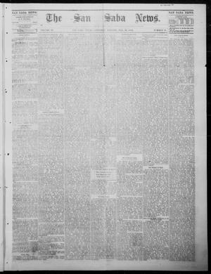 Primary view of object titled 'The San Saba News. (San Saba, Tex.), Vol. 9, No. 21, Ed. 1, Saturday, February 10, 1883'.