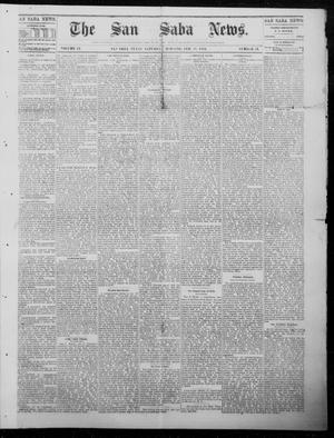 Primary view of object titled 'The San Saba News. (San Saba, Tex.), Vol. 9, No. 22, Ed. 1, Saturday, February 17, 1883'.
