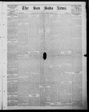 Primary view of object titled 'The San Saba News. (San Saba, Tex.), Vol. 9, No. 24, Ed. 1, Saturday, March 3, 1883'.