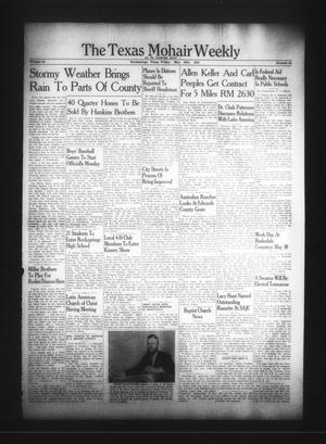 Primary view of object titled 'The Texas Mohair Weekly (Rocksprings, Tex.), Vol. 53, No. 20, Ed. 1 Friday, May 26, 1961'.