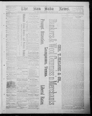 Primary view of object titled 'The San Saba News. (San Saba, Tex.), Vol. 10, No. 14, Ed. 1, Saturday, December 22, 1883'.
