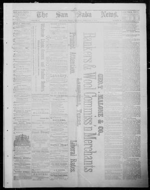Primary view of object titled 'The San Saba News. (San Saba, Tex.), Vol. 10, No. 19, Ed. 1, Saturday, February 2, 1884'.