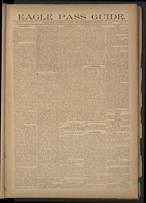Primary view of Eagle Pass Guide. (Eagle Pass, Tex.), Vol. 8, No. 14, Ed. 1 Saturday, November 30, 1895
