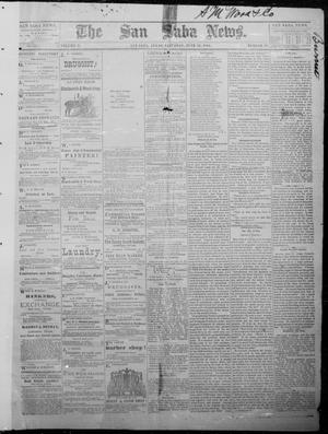 Primary view of object titled 'The San Saba News. (San Saba, Tex.), Vol. 10, No. 39, Ed. 1, Saturday, June 21, 1884'.