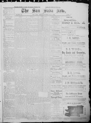Primary view of object titled 'The San Saba News. (San Saba, Tex.), Vol. 12, No. 29, Ed. 1, Saturday, May 1, 1886'.