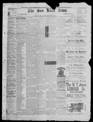 Primary view of object titled 'The San Saba News. (San Saba, Tex.), Vol. 12, No. 48, Ed. 1, Friday, September 10, 1886'.