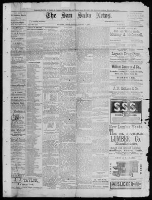 Primary view of object titled 'The San Saba News. (San Saba, Tex.), Vol. 13, No. 12, Ed. 1, Friday, January 7, 1887'.