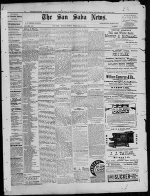Primary view of object titled 'The San Saba News. (San Saba, Tex.), Vol. 13, No. 19, Ed. 1, Friday, February 25, 1887'.