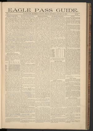 Eagle Pass Guide. (Eagle Pass, Tex.), Vol. 7, No. 20, Ed. 1 Saturday, January 12, 1895