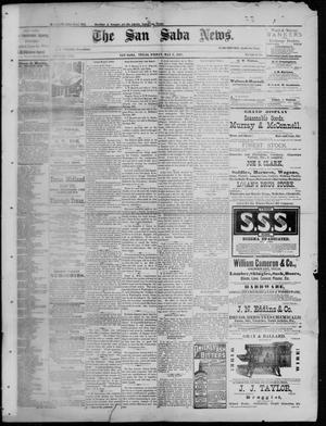 Primary view of object titled 'The San Saba News. (San Saba, Tex.), Vol. 13, No. 29, Ed. 1, Friday, May 6, 1887'.