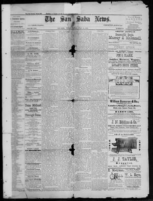 Primary view of object titled 'The San Saba News. (San Saba, Tex.), Vol. 13, No. 39, Ed. 1, Friday, July 15, 1887'.