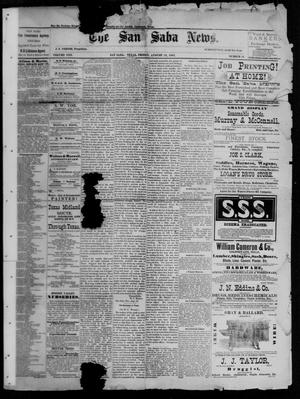 Primary view of object titled 'The San Saba News. (San Saba, Tex.), Vol. 13, No. 44, Ed. 1, Friday, August 19, 1887'.