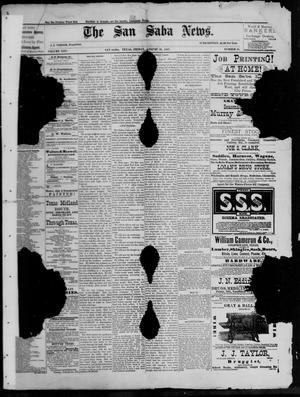 Primary view of object titled 'The San Saba News. (San Saba, Tex.), Vol. 13, No. 45, Ed. 1, Friday, August 26, 1887'.