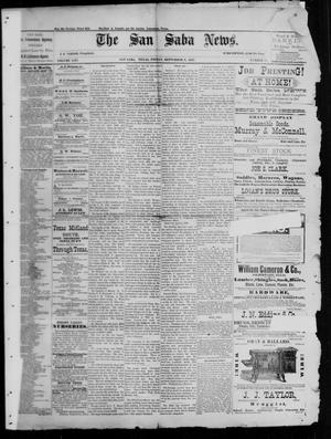 Primary view of object titled 'The San Saba News. (San Saba, Tex.), Vol. 13, No. 47, Ed. 1, Friday, September 9, 1887'.