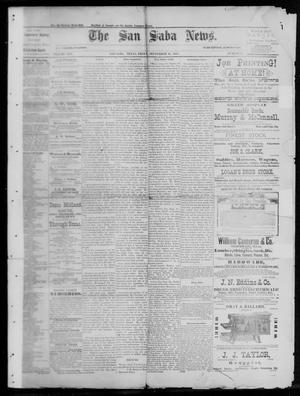 Primary view of object titled 'The San Saba News. (San Saba, Tex.), Vol. 13, No. 48, Ed. 1, Friday, September 16, 1887'.