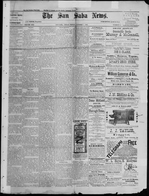 Primary view of object titled 'The San Saba News. (San Saba, Tex.), Vol. 13, No. 51, Ed. 1, Friday, October 7, 1887'.
