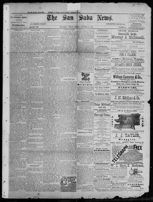 Primary view of object titled 'The San Saba News. (San Saba, Tex.), Vol. 13, No. 52, Ed. 1, Friday, October 14, 1887'.