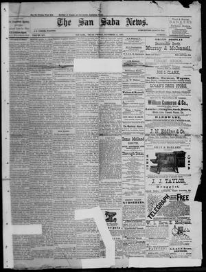 Primary view of object titled 'The San Saba News. (San Saba, Tex.), Vol. 14, No. 4, Ed. 1, Friday, November 11, 1887'.