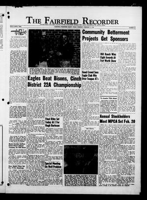 Primary view of object titled 'The Fairfield Recorder (Fairfield, Tex.), Vol. 89, No. 22, Ed. 1 Thursday, February 11, 1965'.