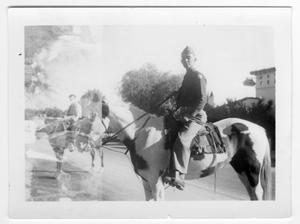 Primary view of object titled '[Unidentified Officer on Horseback]'.