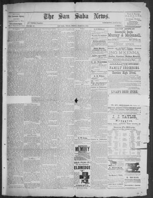 Primary view of object titled 'The San Saba News. (San Saba, Tex.), Vol. 15, No. 21, Ed. 1, Friday, March 22, 1889'.