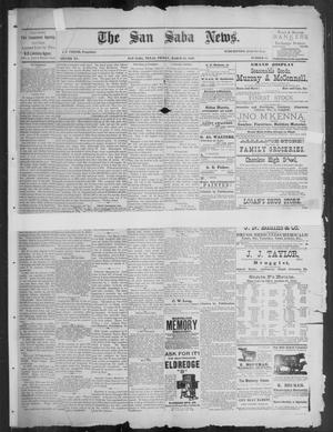 Primary view of object titled 'The San Saba News. (San Saba, Tex.), Vol. 15, No. 22, Ed. 1, Friday, March 29, 1889'.