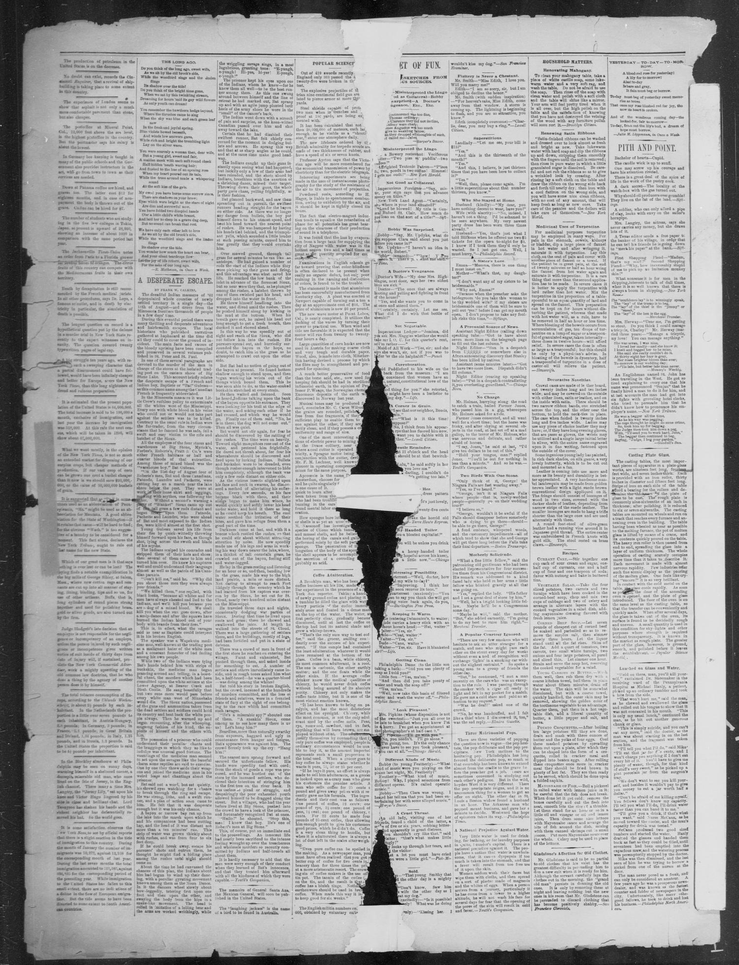 The San Saba News. (San Saba, Tex.), Vol. 15, No. 31, Ed. 1, Friday, May 31, 1889 - Page 2 of 4 - The Portal to Texas History