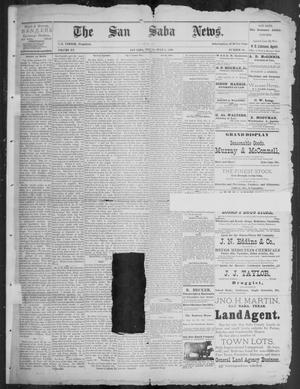 Primary view of object titled 'The San Saba News. (San Saba, Tex.), Vol. 15, No. 36, Ed. 1, Friday, July 5, 1889'.