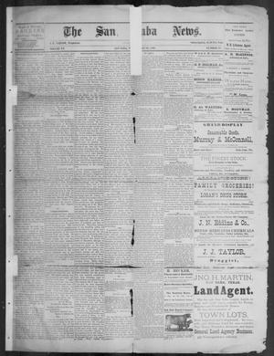 Primary view of object titled 'The San Saba News. (San Saba, Tex.), Vol. 15, No. 37, Ed. 1, Friday, July 12, 1889'.