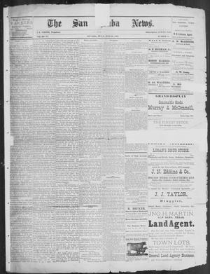 Primary view of object titled 'The San Saba News. (San Saba, Tex.), Vol. 15, No. 38, Ed. 1, Friday, July 19, 1889'.