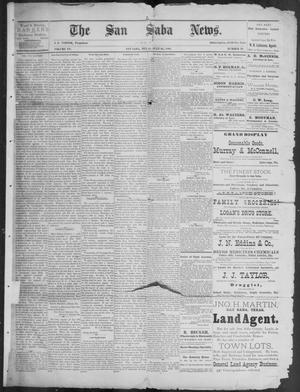 Primary view of object titled 'The San Saba News. (San Saba, Tex.), Vol. 15, No. 39, Ed. 1, Friday, July 26, 1889'.