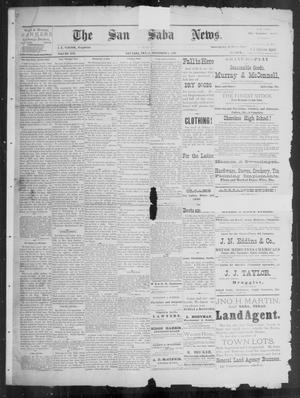 Primary view of object titled 'The San Saba News. (San Saba, Tex.), Vol. 16, No. 1, Ed. 1, Friday, November 1, 1889'.