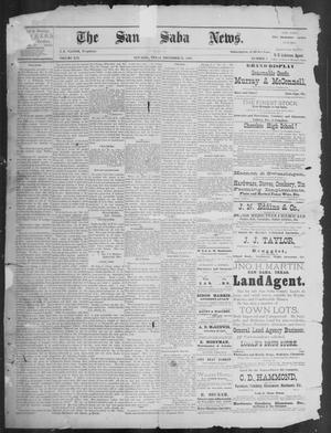 Primary view of object titled 'The San Saba News. (San Saba, Tex.), Vol. 16, No. 4, Ed. 1, Friday, November 22, 1889'.