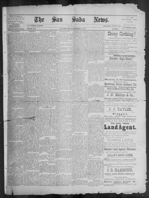 Primary view of object titled 'The San Saba News. (San Saba, Tex.), Vol. 16, No. 7, Ed. 1, Friday, December 13, 1889'.