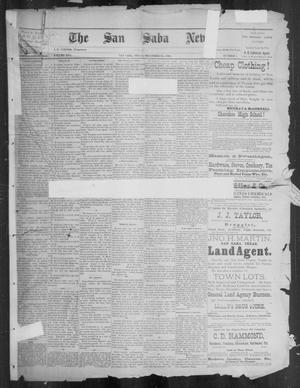 Primary view of object titled 'The San Saba News. (San Saba, Tex.), Vol. 16, No. 8, Ed. 1, Friday, December 20, 1889'.