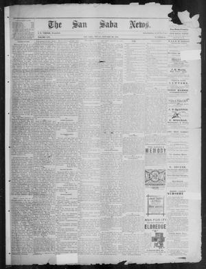Primary view of object titled 'The San Saba News. (San Saba, Tex.), Vol. 16, No. 10, Ed. 1, Friday, January 10, 1890'.