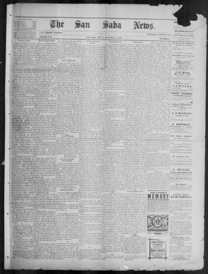 Primary view of object titled 'The San Saba News. (San Saba, Tex.), Vol. 16, No. 11, Ed. 1, Friday, January 17, 1890'.