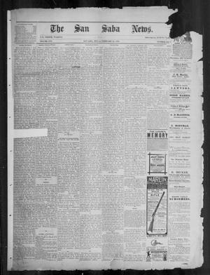 Primary view of object titled 'The San Saba News. (San Saba, Tex.), Vol. 16, No. 15, Ed. 1, Friday, February 14, 1890'.