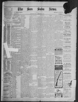 Primary view of object titled 'The San Saba News. (San Saba, Tex.), Vol. 16, No. 16, Ed. 1, Friday, February 21, 1890'.