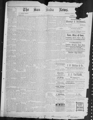 Primary view of object titled 'The San Saba News. (San Saba, Tex.), Vol. 16, No. 21, Ed. 1, Friday, March 28, 1890'.