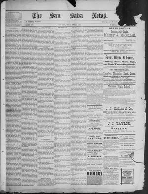 Primary view of object titled 'The San Saba News. (San Saba, Tex.), Vol. 16, No. 22, Ed. 1, Friday, April 4, 1890'.