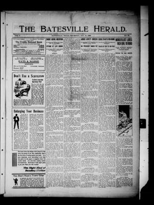 Primary view of object titled 'The Batesville Herald. (Batesville, Tex.), Vol. 9, No. 36, Ed. 1 Thursday, September 16, 1909'.